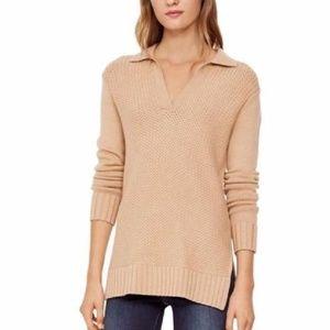 Tory Burch Wheat Melange 100% Wool Tunic Sweater